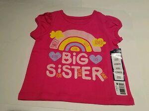 d3db6ccfe6fe Infant Toddler Girls Falls Creek Brand Pink Big Sister Shirt 24M