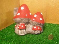 Hand painted fairy toadstool ,mushroom stone fairy garden house.