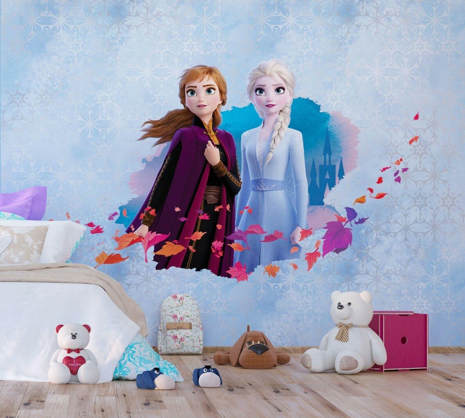 Disney Wall Mural Wallpaper Children S Bedroom Frozen 2 Elsa Anna
