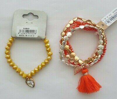 Damen Hippie-Ibiza Boho Style 3**er bis 5**er Armband Quasten Muschel Feder Perl