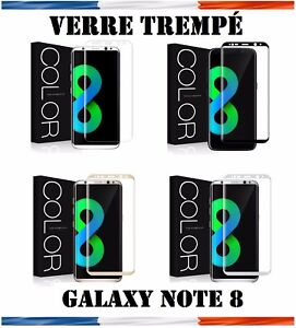 Vitre-Film-Protection-VERRE-Trempe-Incurve-Total-Ecran-Samsung-Galaxy-Note-8