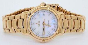 Ebel-1911-heavy-18K-gold-VS1-F-diamond-MOP-dial-automatic-ladies-watch