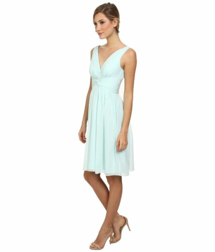 HINT OF MINT SALE!! NWT $189 Donna Morgan /'Jessie/' Silk Chiffon Twist Dress