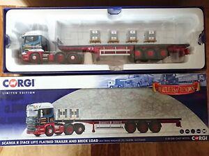 Corgi Cc13748 Scania R Remorque Plateau & Chargement Brique Craig Ltd Ed N ° 0001 De 1000