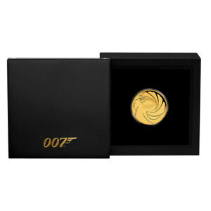 Goldmünze James Bond 007 2020 Tuvalu 1/4 oz in Polierte Platte