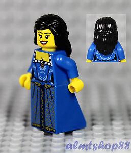 LEGO Female Minifigure w// Blue Gold Dress /& Dark Orange Hair Princess Castle