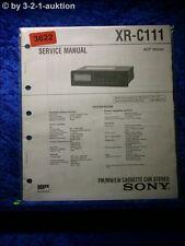 Sony Service Manual XR C111 Cassette Car Stereo (#3622)