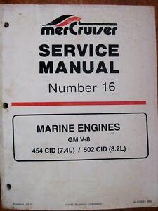 mercruiser service manual 16 gm 454 502 cid v 8 engines nice rh ebay com Mercruiser Wiring-Diagram Mercruiser Alpha One