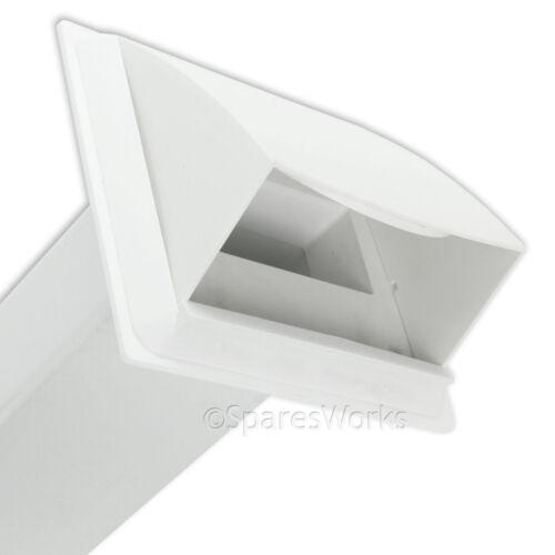 """KIT di sfiato per asciugatrice LOGICA sfiato esterno presa a muro 4/"""" 100mm Bianco"""