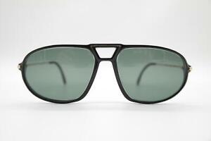 Vintage-Rodenstock-7034-Black-Gold-Oval-Sunglasses-Glasses-NOS