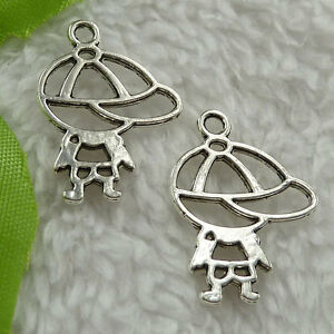 Free-Ship-240-pieces-tibet-silver-boy-charms-25x19mm-2757