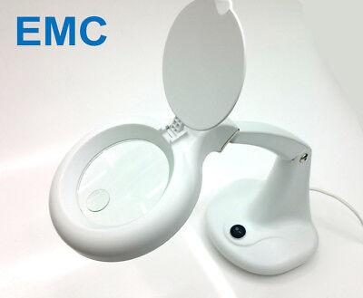 EMC Compact 1.75x + 4x Magnifier Lamp Table Desk Light for DIY Craft + Beauty | eBay
