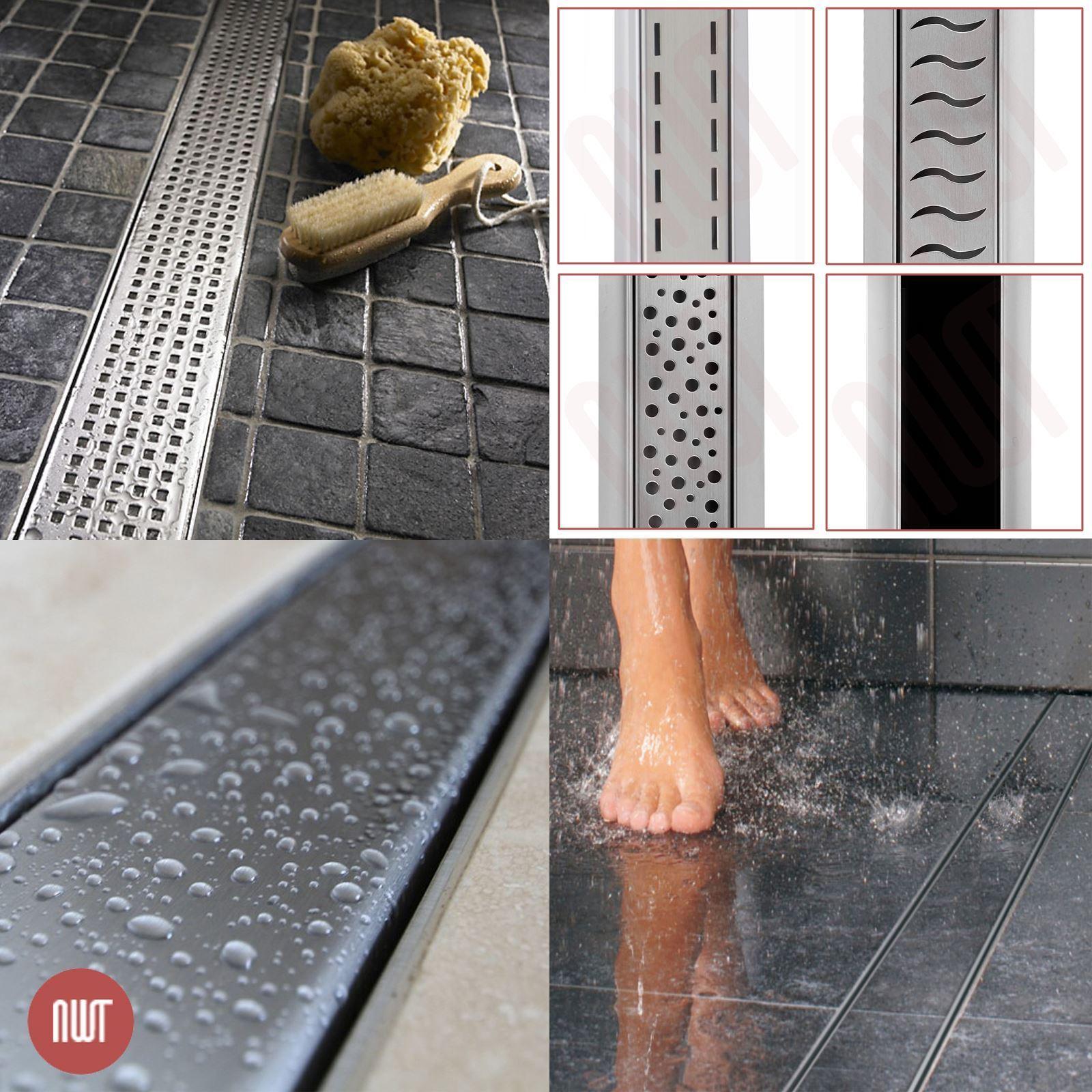rectangulaire  en acier inoxydable douche pièces humides systèmes de drainage, de 600 mm à 1500 mm