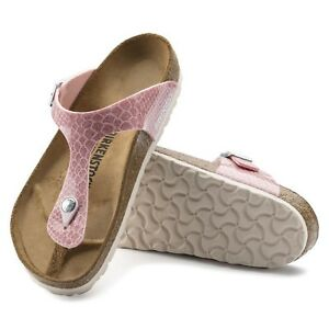15da5c8c966c2a Birkenstock Gizeh 37 41 normal magic snake rose rosa Zehentrenner ...