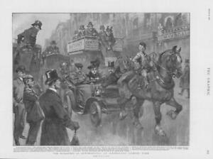 1901-Antique-Print-AUTOMOBILES-Car-Cart-Horse-Urchins-Carriages-220