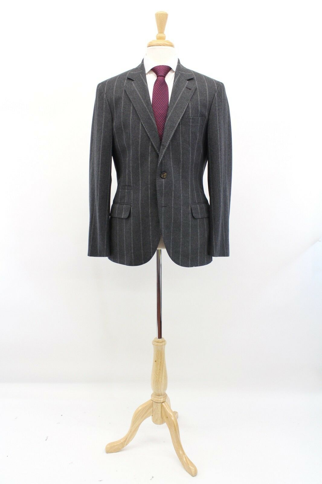 NWT Brunello Cucinelli Silk-Linen-Wool Knit Striped Sport Coat 50 40US A181