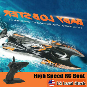 JJRC-S6-1-47-2-4GHz-RC-Electric-Boat-High-Speed-Racing-Remote-Control-Boat-Black