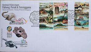 Malaysia FDC with Stamps (21.11.2017) - Visit Pahang, Perak & Terengganu