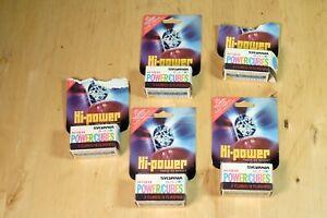 Sylvania Hi-Power Blue Dot FLASHCUBES Lot (5 packs) 9 Cubes 36 Flashes Total