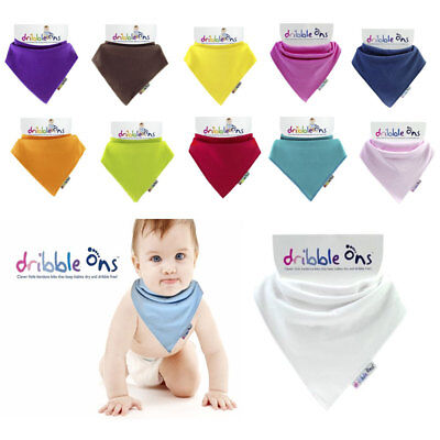 Dribble Ons Bandana Bib Baby Girls 3 Pack Ditsy Flower Fuchsia /& Baby Pink