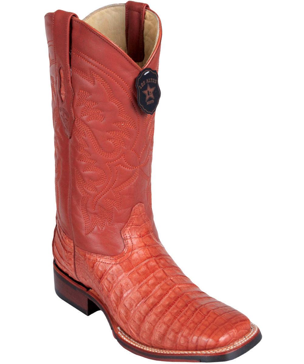 Los altos altos altos Coñac Caiman dedo del pie cuadrado de cocodrilo TPU Goma suela bota D 3fd93f