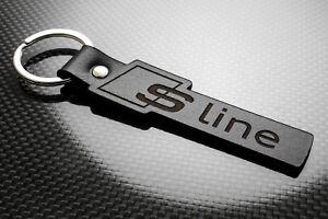 AUDI S-LINE Leder Schlüsselanhänger, Schlüsselring, Porte-Clés Q2 Q3 ...