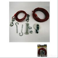 Dog Run Set Lets Dogs Steel Cables Trolley Heavy Duty 50ft Tie Out Cable