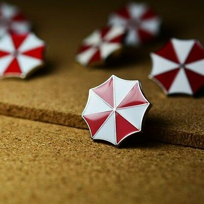 Resident Evil Red Umbrella Cosplay Brooch Pin Badge Suit Buttons Limited Edition
