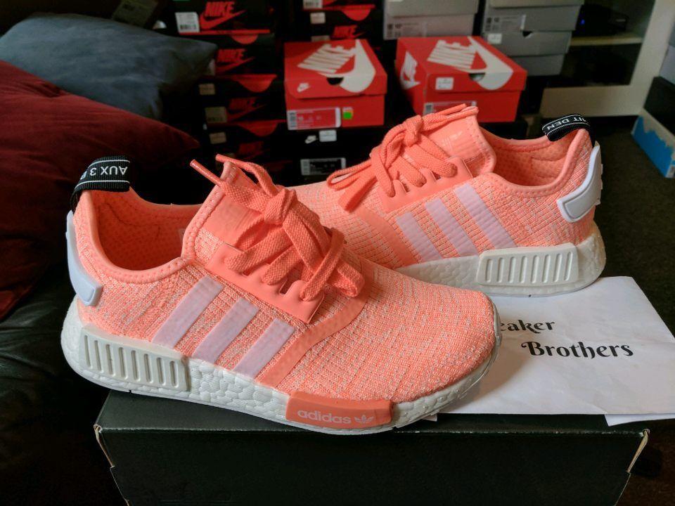 Adidas NMD_R1 W Women Sun Glow Peach Pink White BY3034 Haze Coral Salmon Bright