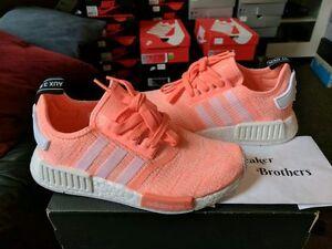 e6a9efa85 Adidas NMD R1 W Women Sun Glow Peach Pink White BY3034 Haze Coral ...