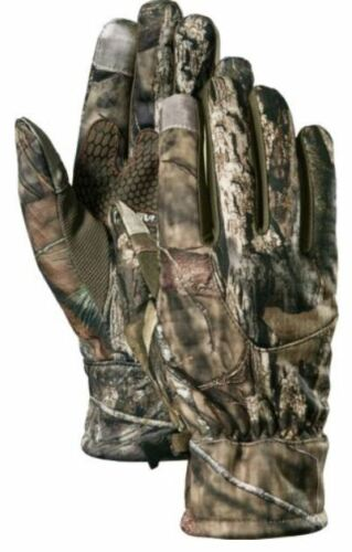 New Large Cabelas Mens Mossy Oak Country Jacob Ash ProText SoftShell Gloves Camo