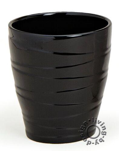 Blumenvase Keramik Pflanztopf Blumentopf 13x15cm Hochglanz schwarz weiß rot