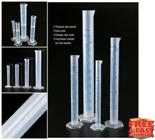 Test Tubes Plastic Clear Measuring Cylinder Graduated Tube Set of 4 Chemistry