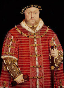 Dream-art Oil painting Male portrait king of Henry VIII Standing in red canvas