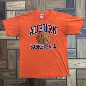 new concept d9d55 c50a7 Details about Vintage Auburn University Tigers Basketball T Shirt / Orange  Navy / Men's M