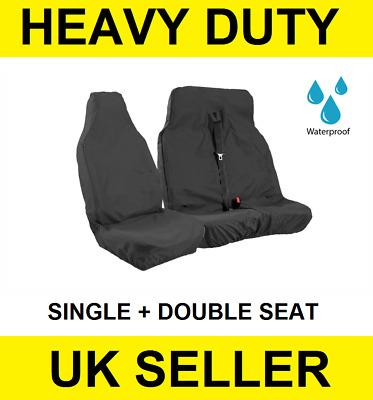 Ford Transit SWB MWB LWB Heavy Duty Black Waterproof Single Seat Cover