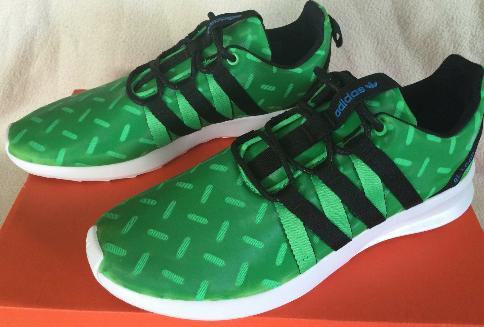 Adidas SL Loop Chrometech Q16764 Retro Green Sneakers Running shoes Men's 10 Run
