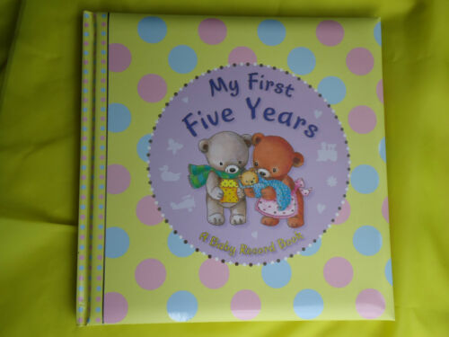 HARDBACK GIFT BABY/'S RECORD BOOK My First Five Years FOR BABY GIRL or BOY