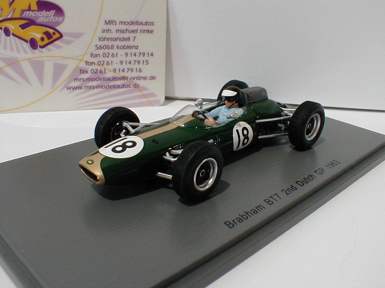 SPARK s5250-Brabham bt7 n. 18 2nd Paesi Bassi GP Formula 1 1963 Dan Gurney 1 43