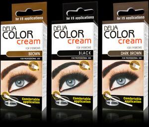Delia® Professional Henna,Beautiful Eyebrow ALL Colors Cream +Easy Tint Kit Set!