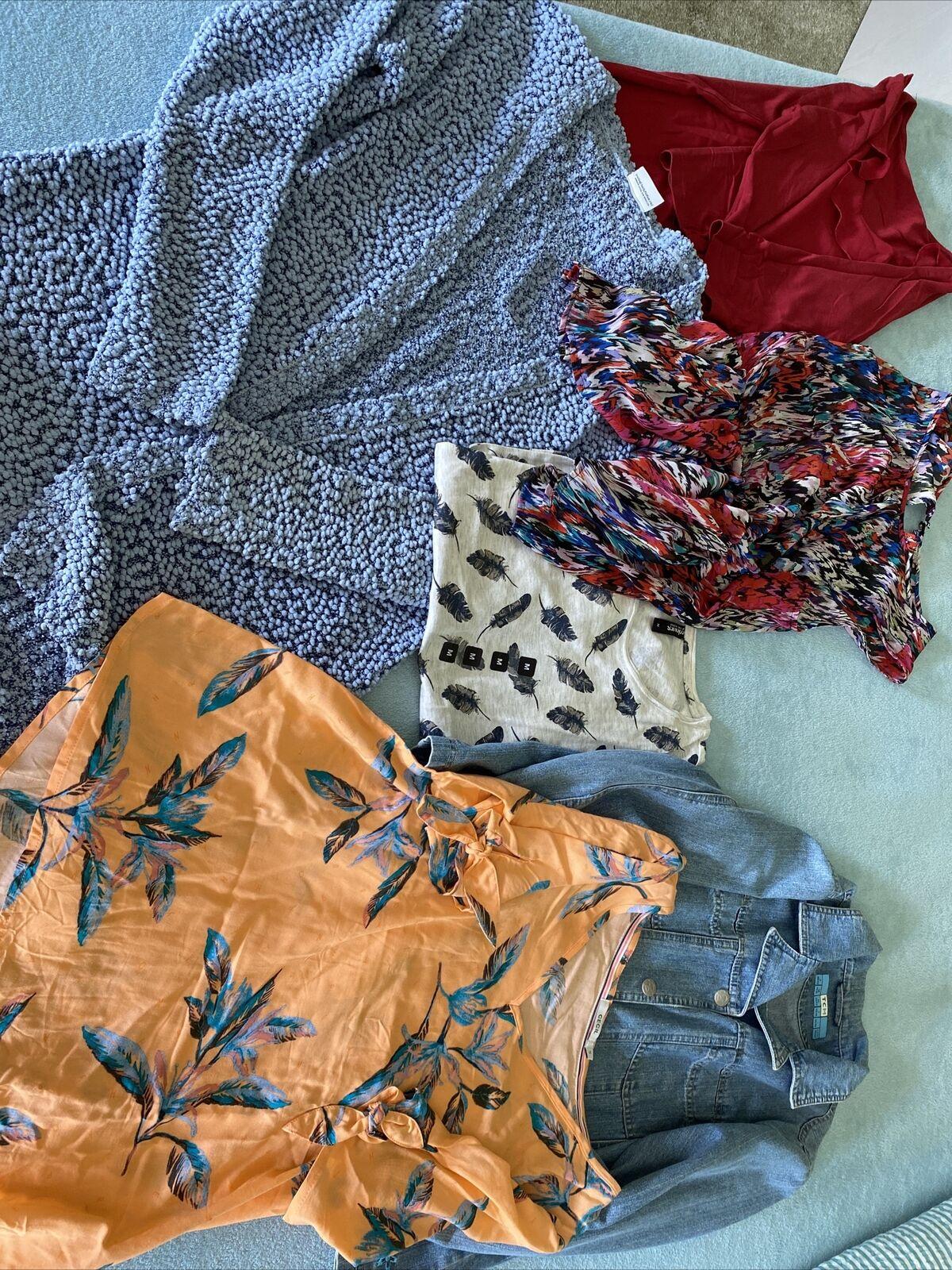 Damen Paket Cardigan Jeans Jacke Shirts Grösse 38/40