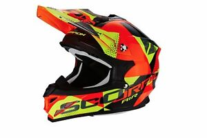 Cross-ENDURO-casco-MOTO-integrale-Scorpion-VX-15-EVO-Air-AKRA-nero-Fluo