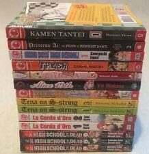 Assorted Manga Lot 13 volumes English High school Of The Dead, La Orda D'oro