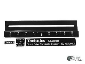 TECHNICS-PITCH-TRIM-amp-LASER-DECAL-BADGE-STICKER-KIT-BLACK-WHITE-1210-1200