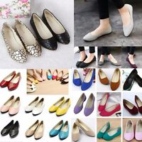 Women Flat Ballet Shoes Slip On Flats Boat Single Shoes Casual Loafers Summer