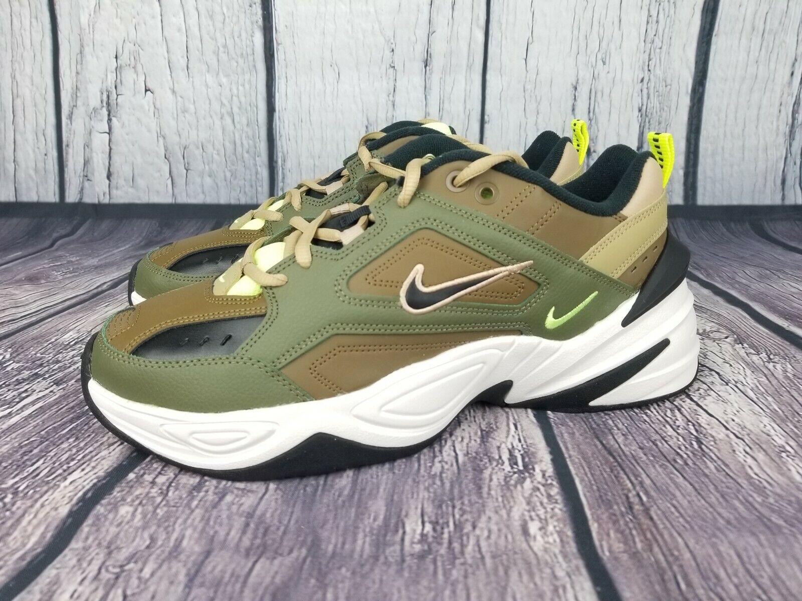 Nike Women's M2K TEKNO Olive Black AO3108-201 Size 10