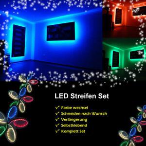 1m 3m 5050 smd rgb led strip streifen band fernbedienung netzteil usb tv leiste ebay. Black Bedroom Furniture Sets. Home Design Ideas