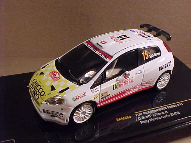 Fiat Grande Punto S2000 15 Burri 9th 2009 Monte Carlo Ixo Ram380 1