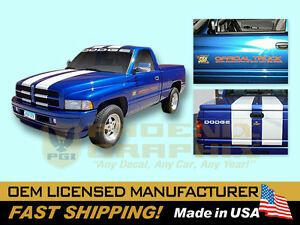 1996 Dodge Ram 1500 Indy 500 Pace Truck Door Decals Kit Ebay