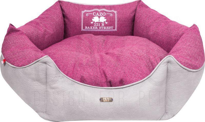 Luxus Cuir Lit pour  en Panier Animal Coussin Matelas Rosé 50cm